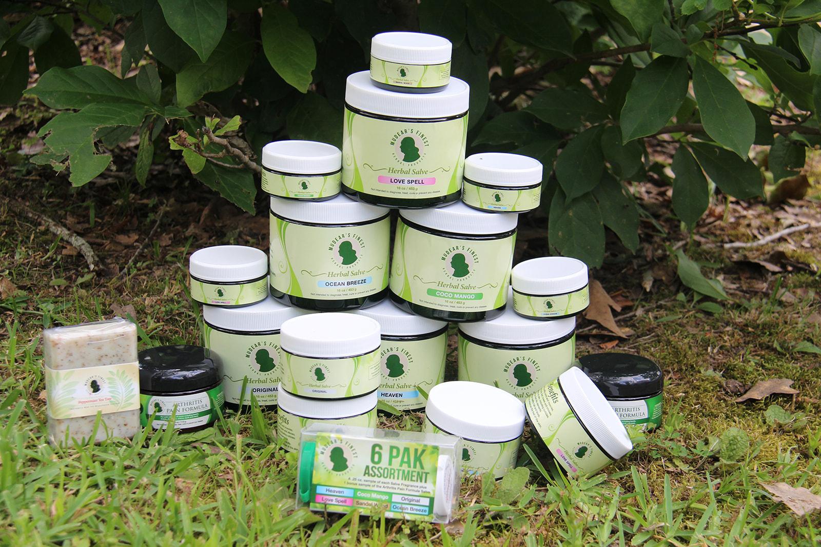 Mudear's Finest Herbal Salves