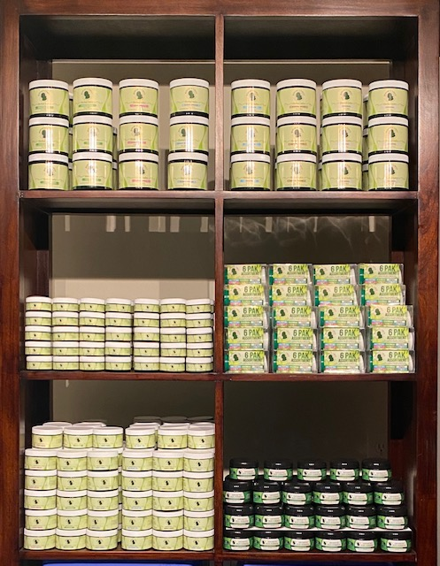 Mudear's Herbal Salve Shelf