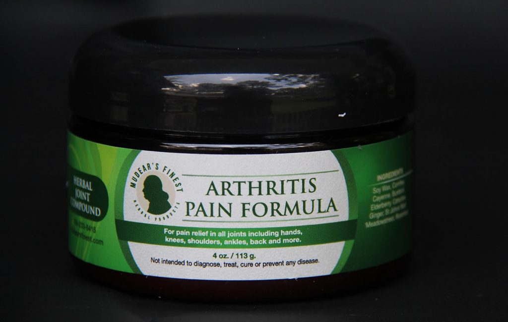 Arthritis Pain Formula – Mudear's Finest Herbal Salves – 4 oz.